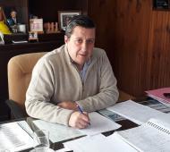 Álvarez reunció a la intendencia de Guaminí. Foto: Prensa