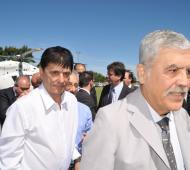 Julio De Vido recorrió obras y se reunió con 30 intendentes en Roque Pérez.