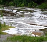 El nivel del río llego a 3,05 metros fuera de su cauce. Foto: El Civismo.