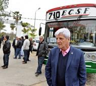 Ancreotti participó del primer viaje del nuevo recorrido de la línea. Foto: Municipalidad de San Fernando.