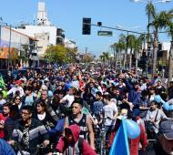 """La """"Bicicleteada Familiar"""" convocó a más de 6 mil vecinos."""