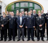 Ritondo presentó la nueva cúpula de la Policía Bonaerense.