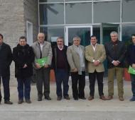 Los intendentes en Trenque Lauquen.