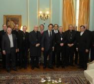Scioli recibió a Obispos bonaerenses. Foto: BANoticias.