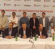 Macri en el cierre del Foro de Intendentes Radicales.