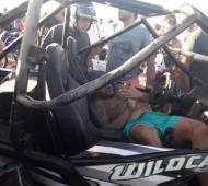 Siete personas heridas durante una picada ilegal. foto: Infocielo