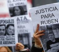 Familiares de Sandra Calamano y Rubén Rodríguez piden justicia y escuelas seguras. Foto: Prensa