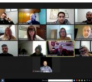 Grindetti con coronavirus: Encabezó reunión de gabinete virtua
