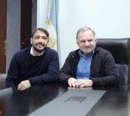 El Jefe Comunal Julio Pereyra y el de Berazategui, Juan Patricio Mussi.
