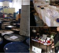 Golpe al narcotráfico en Tres de Febrero: Dos detenidos y secuestro de precursores químicos