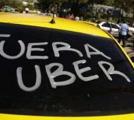 Convocan a una marcha contra Uber en Mar del Plata. Foto: Prensa