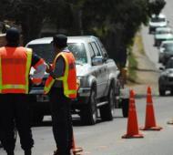 seleccionaran los vehículos que pasarán por el km 183 de la ruta 2. Foto: Prensa