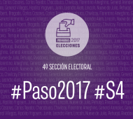 En la cuarta sección son 1578 las mesas habilitadas para votar.