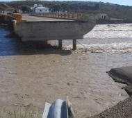 Este jueves arribará el puente del ejército a Arroyo Verde. Foto: El Patagónico.