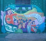 La obra estuvo a cargo del colectivo Muralismo Nómade. Foto: LN1