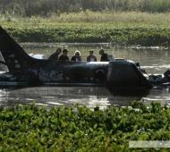 En el avión viajaban 9 argentinos y una portuguesa. Foto: AFP.
