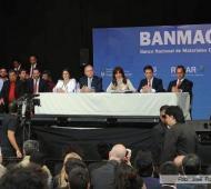 Scioli acompañó a la Presidenta en el acto.
