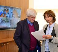 Andreotti y Aparicio, en un pasaje de la visita. Foto: Municipio San Fernando