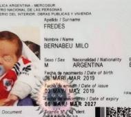 El pequeño llegó al mundo el pasado 6 de marzo. Foto: Prensa