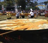 La Fiesta de la Omelette Gigante en Saavedra.