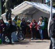 Municipales instalaron una carpa de reclamo frente al Municipio Foto: Prensa