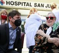 Aniversario del 24 de marzo: Kicillof y Hebe de Bonafini recordaron a las víctimas del terrorismo de Estado y homenajearon al personal de salud