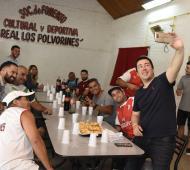 """Malvinas Argentinas: El intendente Nardini visitó el club """"Real Los Polvorines"""" y le plantearon sus necesidades"""