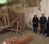 Malvinas Argentinas: Nardini recorrió la obra del nuevo edificio de Cultura y Arte