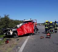Policías devuelven $34.500 encontrados en un accidente fatal en Ruta 9. Fotos: La Noticia 1