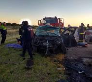 Tres vehículos participaron del choque.