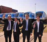 Randazzo, Domínguez y Recalde, candidatos en el Puerto de Bueos Aires.
