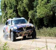 Al-Attiyah lideró la 2º etapa en su Mini Cooper. Foto: LaNoticia1