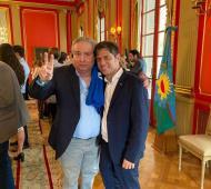 El intendente Alessandro junto a Kicillof