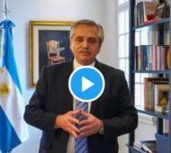 Fernández formuló el anuncio de la prórroga del aislamiento en un mensaje grabado y difundido en redes sociales