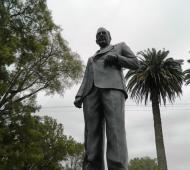 El monumento deAlfonsín en el parque Libres del Sur.