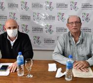 El Intendente de Florentino AmeghinoCalixto Tellechea, junto al Director de Salud, Lucas Modad.