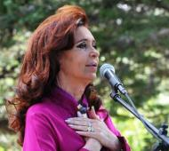 Cristina no se refirió al tema Amia durante su acto el sábado en El Calafate. Foto: Presidencia.