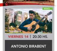 Antonio Birabent brinda un show en Quilmes.