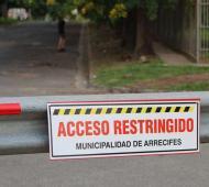 El Intendente cerró los accesos en Arrecifes.