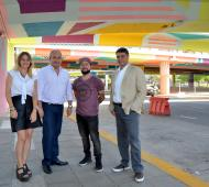 Jorge Macri en el Puente de Libertador y General Paz