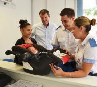 Agentes de la Policía Local ayudaron a dar a luz un a bebé.