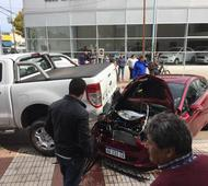 Asçi quedó el auto cero kilómetro. Foto: Infozona