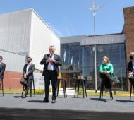 Fernández encabeza la inauguración de las obras de ampliación del edificio del Departamento Judicial Avellaneda/Lanús.