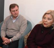Omar Duclós y Elisa Carrió