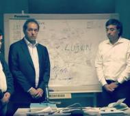 Scioli junto a parte de su gabinete explicó el plan de acción del Gobierno provincial.