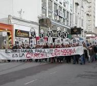 la marcha se hizo sentir en Bahía Blanca. Foto: @nestorconte