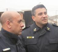 Comisario Juan Matías Ortelli y Subcomisario Jorge Daniel Coronel. Foto: eldiariobalcarce.com.ar