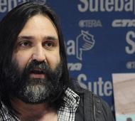 Baradel opinó sobre la detención del gasista de la tragedia en Moreno. Foto: Prensa