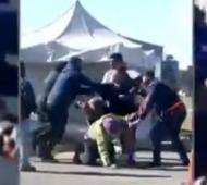 Video: Quiso ingresar a Baradero sin permiso, le dio paliza a inspector y lo detuvieron