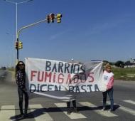 Una de las protestas realizadas meses atrás sobre la ruta 11.